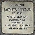 stolpersteine, pierre qui fait trébucher pour un déporté juif français